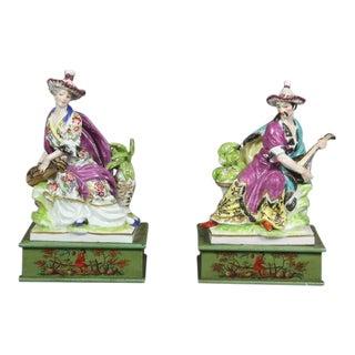 Pair of European Porcelain Figure Groups For Sale