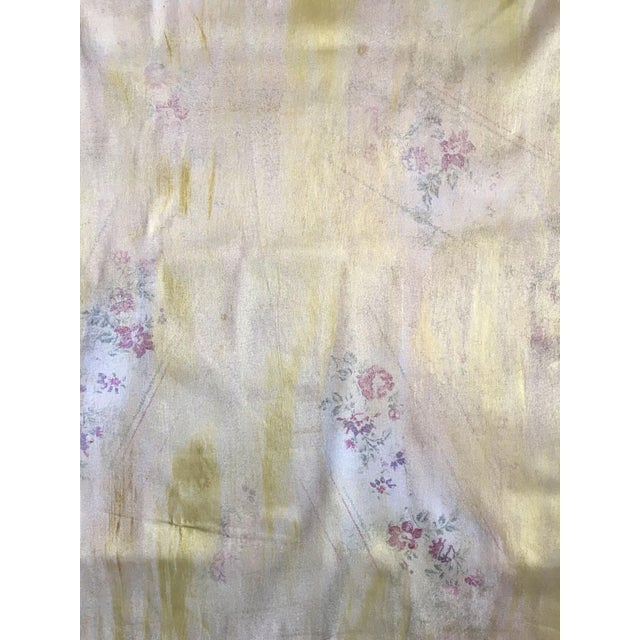 4 yards. Crisp cotton floral overprinted with simmering gold gives it a custom hand-rubbed look. The flowers in the...