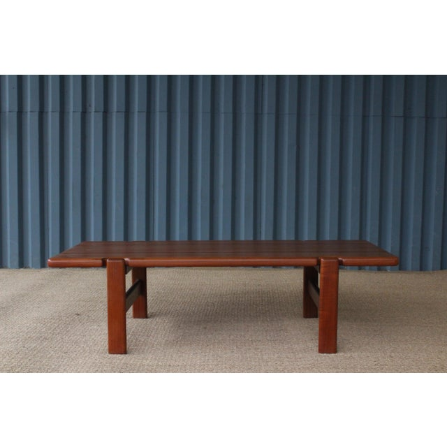 Danish Modern Solid Teak Coffee Table, Denmark, 1960s For Sale - Image 9 of 9