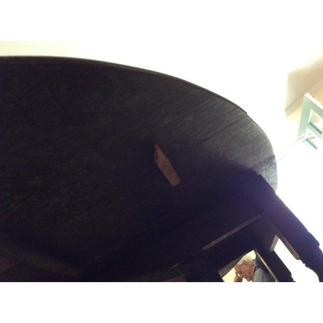 Barley Twist Leg, Drop Leaf Oval Dark Oak Dining Table For Sale - Image 12 of 13