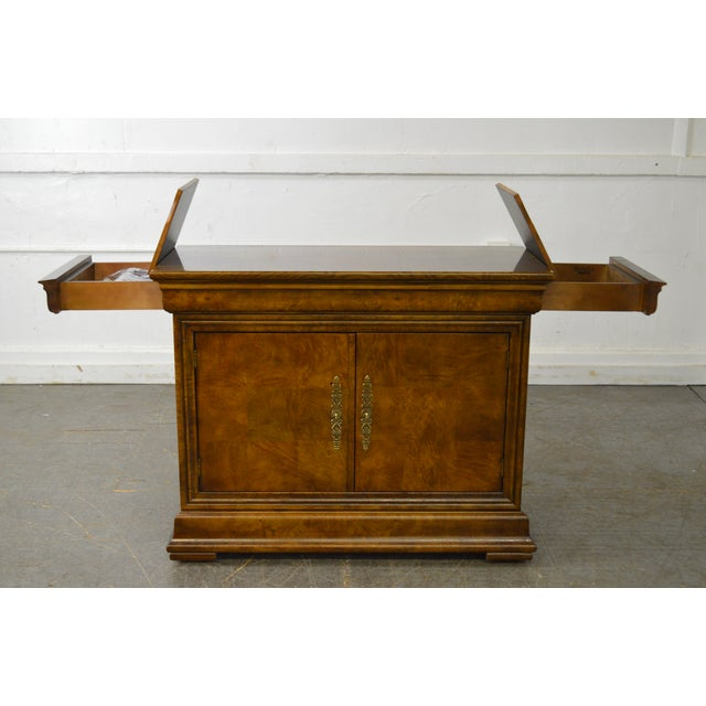 Henredon Burl Wood Charles X Collection 2 Door Server Cabinet For Sale - Image 10 of 10