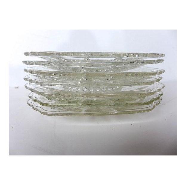 Vintage Pressed Glass Dessert Plates - Set of 7 - Image 4 of 5