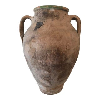 Antique Terra Cotta Olive Jar For Sale