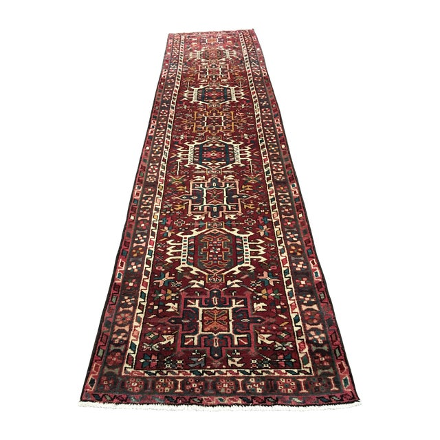 "Vintage Karajeh Persian Runner - 3'8"" X 9' - Image 1 of 9"