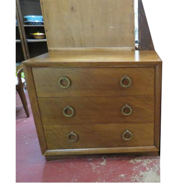 Brown 1960s Vintage Widdicomb Walnut 3 Drawer Chest For Sale - Image 8 of 8