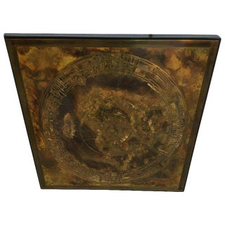 Mastercraft Acid-Etched and Oxidized Brass Wall Art For Sale