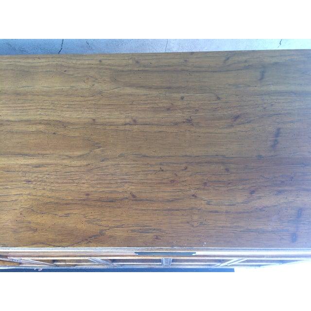 Vintage Herringbone Thomasville Credenza/Dresser For Sale - Image 7 of 11
