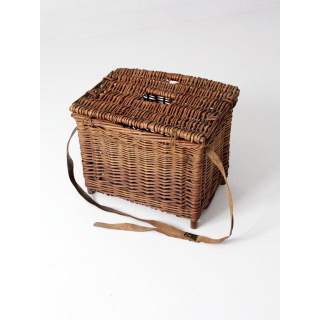 Antique Wicker Fishing Basket - Image 2 of 11