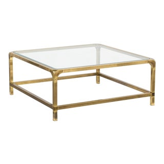 Mastercraft Brass Coffe Table 1970s For Sale