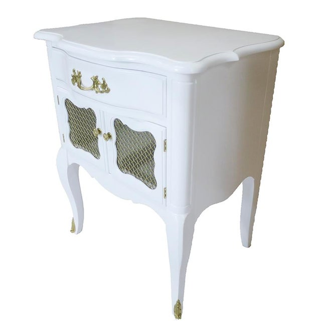 White French-Style Nightstands, Pair - Image 4 of 6