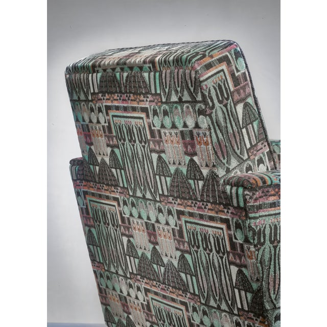 Red Björn Trägårdh Pair of Club Chairs With Original Art Nouveau Upholstery, 1930s For Sale - Image 8 of 8