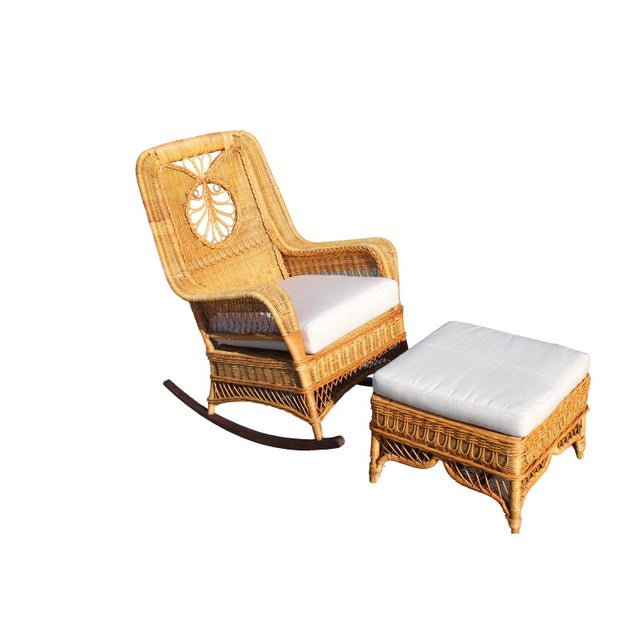 Ralph Lauren Rocking Chair & Foot Stool For Sale In San Diego - Image 6 of 13