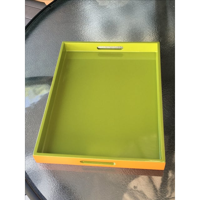 Lime Green Lacquer Tray - Image 2 of 8