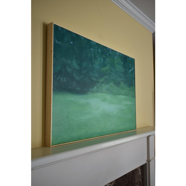 "Paint Contemporary Stephen Remick ""Clover in the Backyard"" Landscape Painting For Sale - Image 7 of 11"