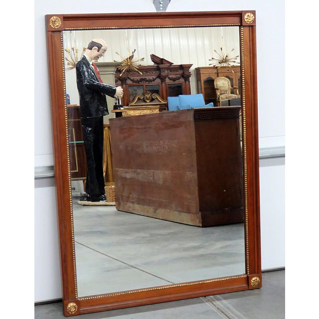 Distinguished Kindel Furniture Belvedere Regency Style Wall Mirror