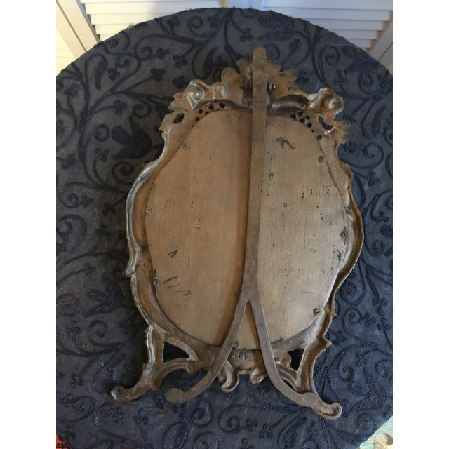 1800s Antique Louis XV Style French Vanity Mirror For Sale - Image 10 of 13