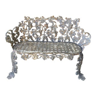 Antique Neoclassical Cast Iron Bench