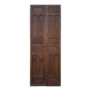 Moroccan Carved Cedar Wood Doors - A Pair