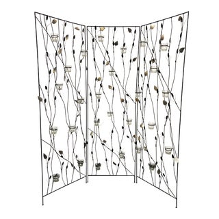 Three Panel Floating Candle Wall Divider