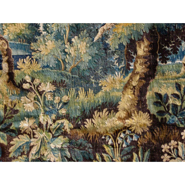 18th Century Flemish Verdure Tapestry Wall Hanging For Sale - Image 4 of 13