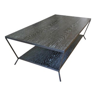 Modern Oly Sutter Cocktail Table in Fumed Oak For Sale