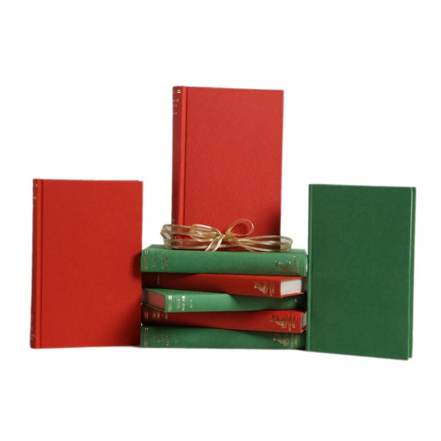 Vintage Book Gift Set: Red & Green, S/8. Eight vintage books featuring literary classics from the Everyman Library series...