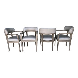 Custom Modern Game or Dining Chairs - Set of 4 For Sale