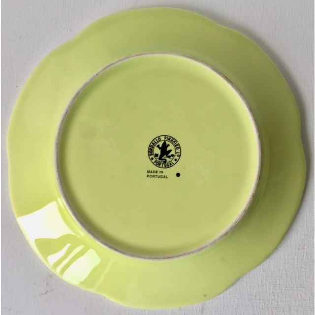 White Bordallo Pinheiro Cabbage Leaf Majolica Plates-Set 4 For Sale - Image 8 of 10
