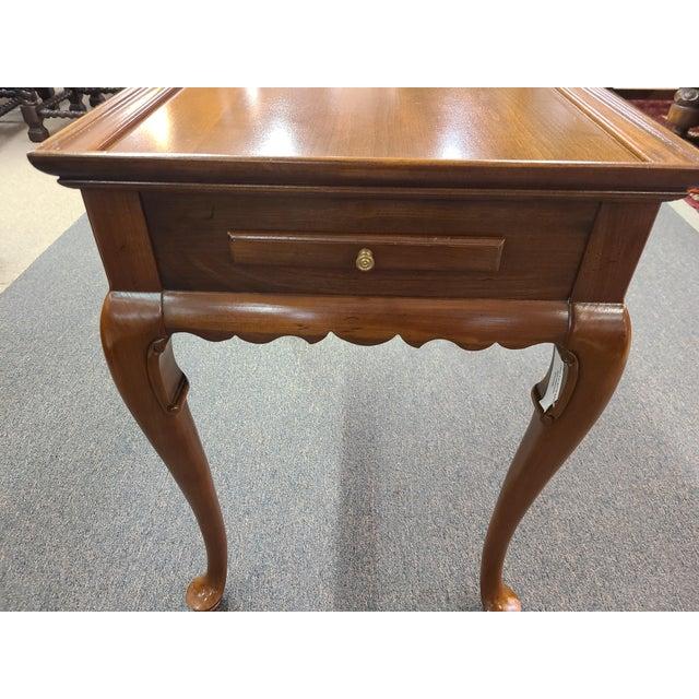 Vintage Ethan Allen Georgian Court Mahogany Tea Table For Sale - Image 9 of 11