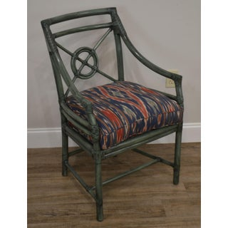 McGuire Green Rattan Target Back Armchair Preview