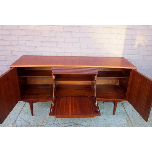 Brown Vintage Danish Modern Rosewood Credenza For Sale - Image 8 of 13