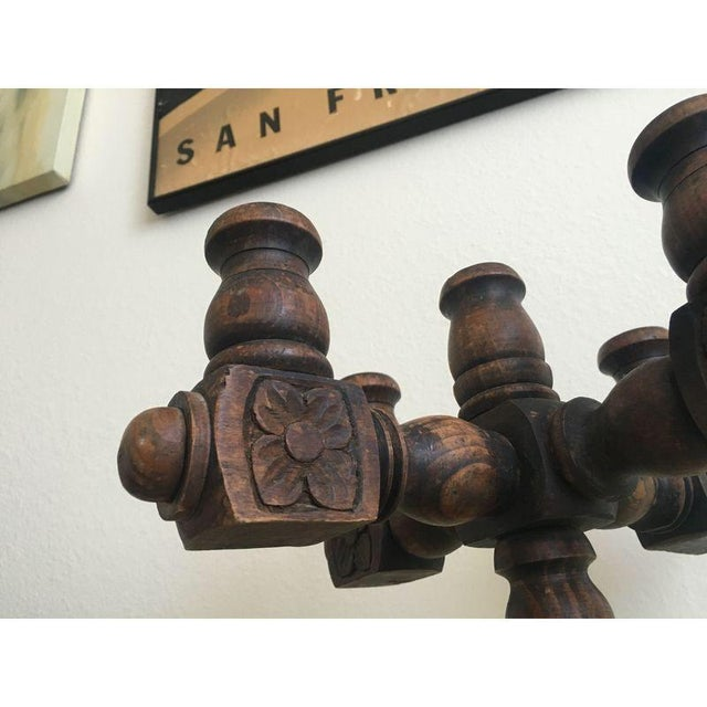 Spanish Revival Hand Carved Candelabra - Image 9 of 9