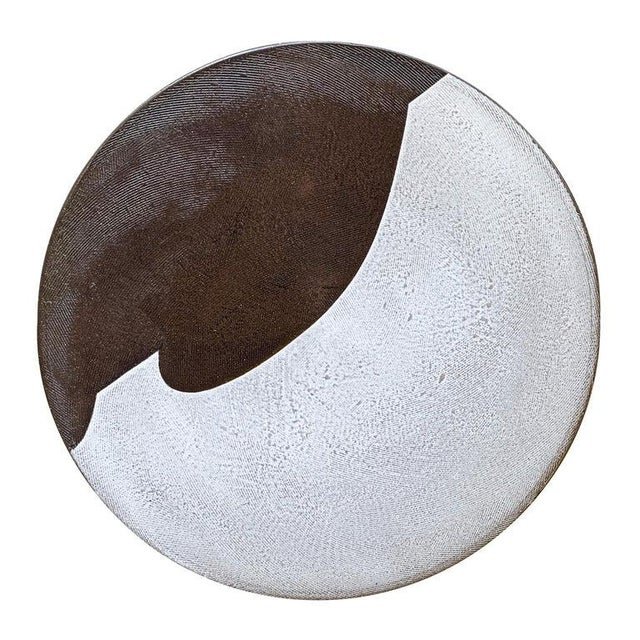 Set of Eight Hand-Thrown Stoneware Dinner Plates For Sale - Image 11 of 13