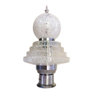 1970s Mid-Century Murano Glass Table Lamp by Carlo Nason for Mazzega For Sale