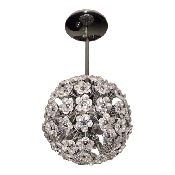 Crystal Flower Sphere Pendant Light - Image 1 of 4