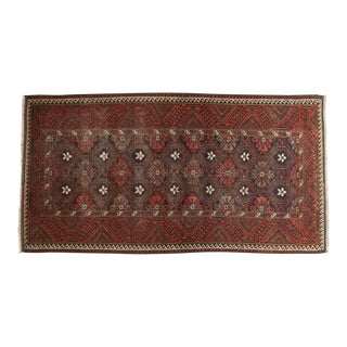 "Vintage Belouch Rug Runner - 3'6"" x 6'8"" For Sale"
