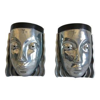 1970s Figural Wall Lights - a Pair For Sale