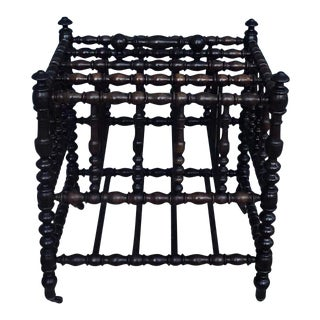 Antique French Canterbury Newspaper Rack For Sale