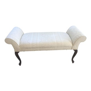Queen Anne Rolled Arm Settee For Sale