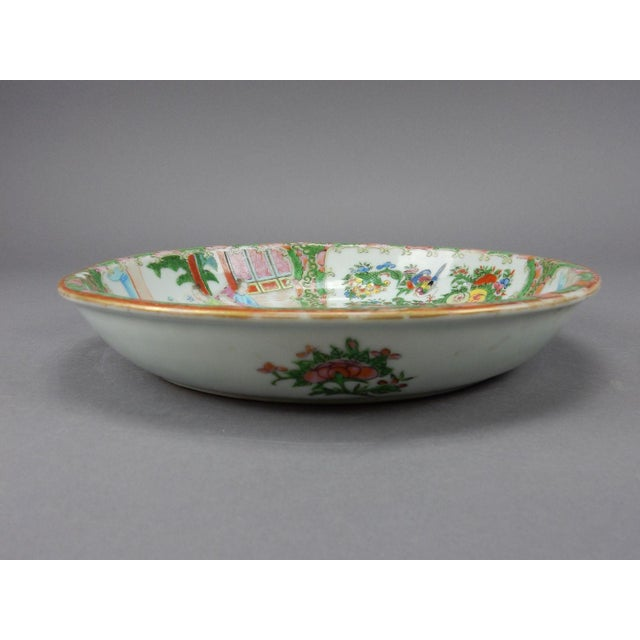 Gorgeous Antique Chinese Export Rose Medallion Serving Bowl - Image 10 of 11