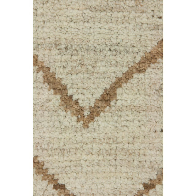 Islamic Moroccan Hand Knotted Area Rug- 6′ × 8′10″ For Sale - Image 3 of 3