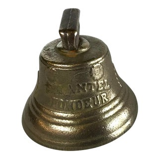 Vintage Brass Sleigh Bell For Sale
