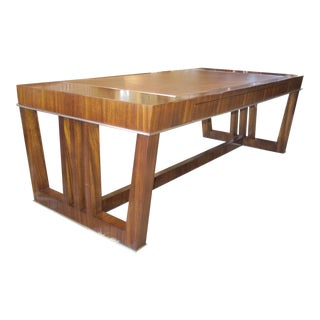 Contemporary Acacia Solids and Zebrano Veneer Coffee Table For Sale