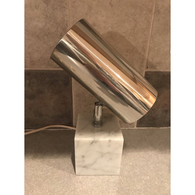 Metal 1960s Vintage Koch & Lowy Carrera Marble Base Table Lamp For Sale - Image 7 of 10