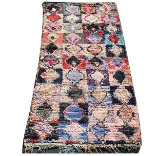 Stevie Moroccan Boucherouite Rug - 3′3″ × 7′8″ For Sale