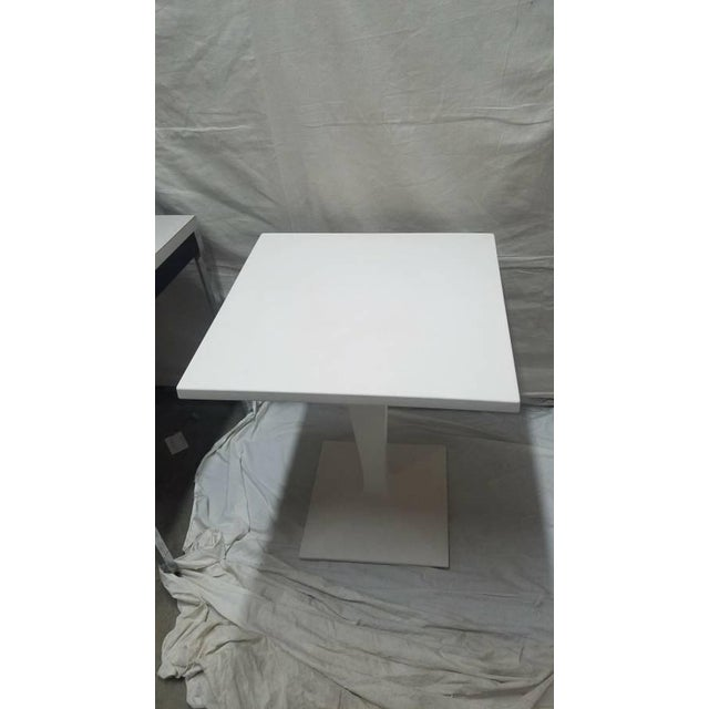 Small table with structure and top in polyethylene with steel inner element. Can be used Indoor and outdoors. Created to...