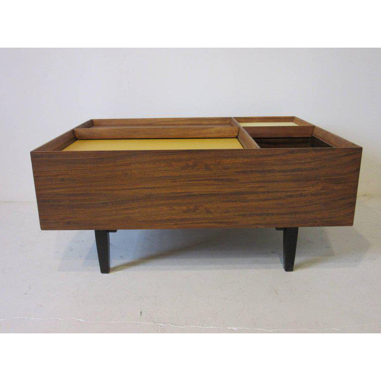 Beau Early Milo Baughman Coffee Table In Exotic Mindoro Wood For Drexel For Sale    Image 9
