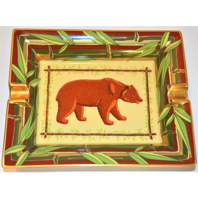Vintage Hermès Bear and Bamboo Cigar Tray For Sale - Image 10 of 13