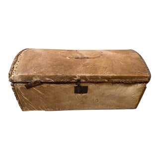 Early 19th Century Horse Hair Covered Trunk For Sale