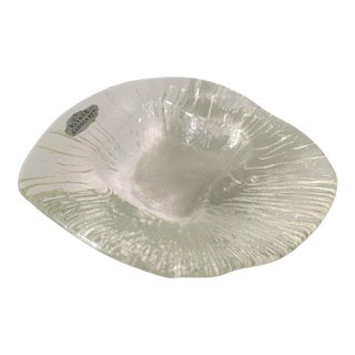 Vintage Blenko Textured Glass Dish For Sale